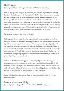 Brev till en NPF-förälder, läs mer på jippieserien.se